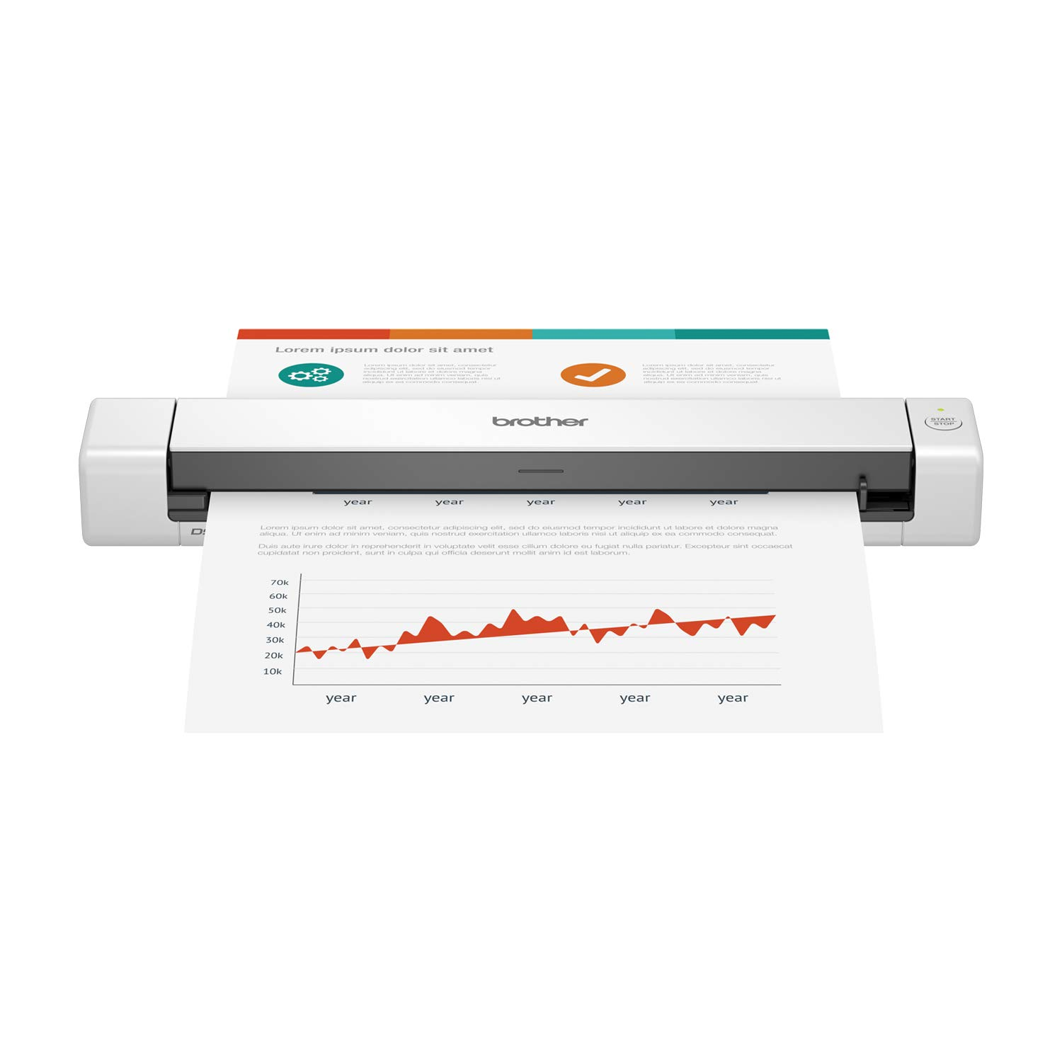 Compact mobile document scanner