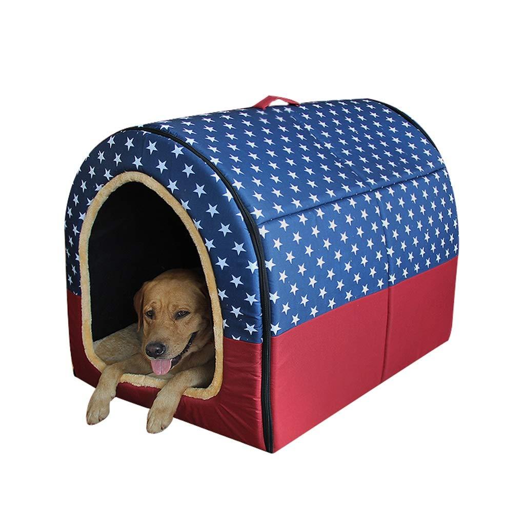 Grande Tipo De Arco Perrito Casa De La Cama Plegable Calentar Nido De Mascotas Gato Suave Amortiguar Casa De Perro Color : A, Tama/ño : L