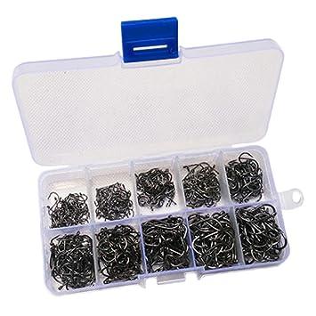 10 x Metall Angelhaken Angeln Haken Angeln Zubehör für Süßwasser oder