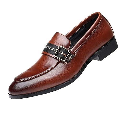 NXY De los Hombres Cuero Mocasines Formal Zapatos de Boda Conducción Ponerse Zapatos Moda Diseño Italiano: Amazon.es: Zapatos y complementos