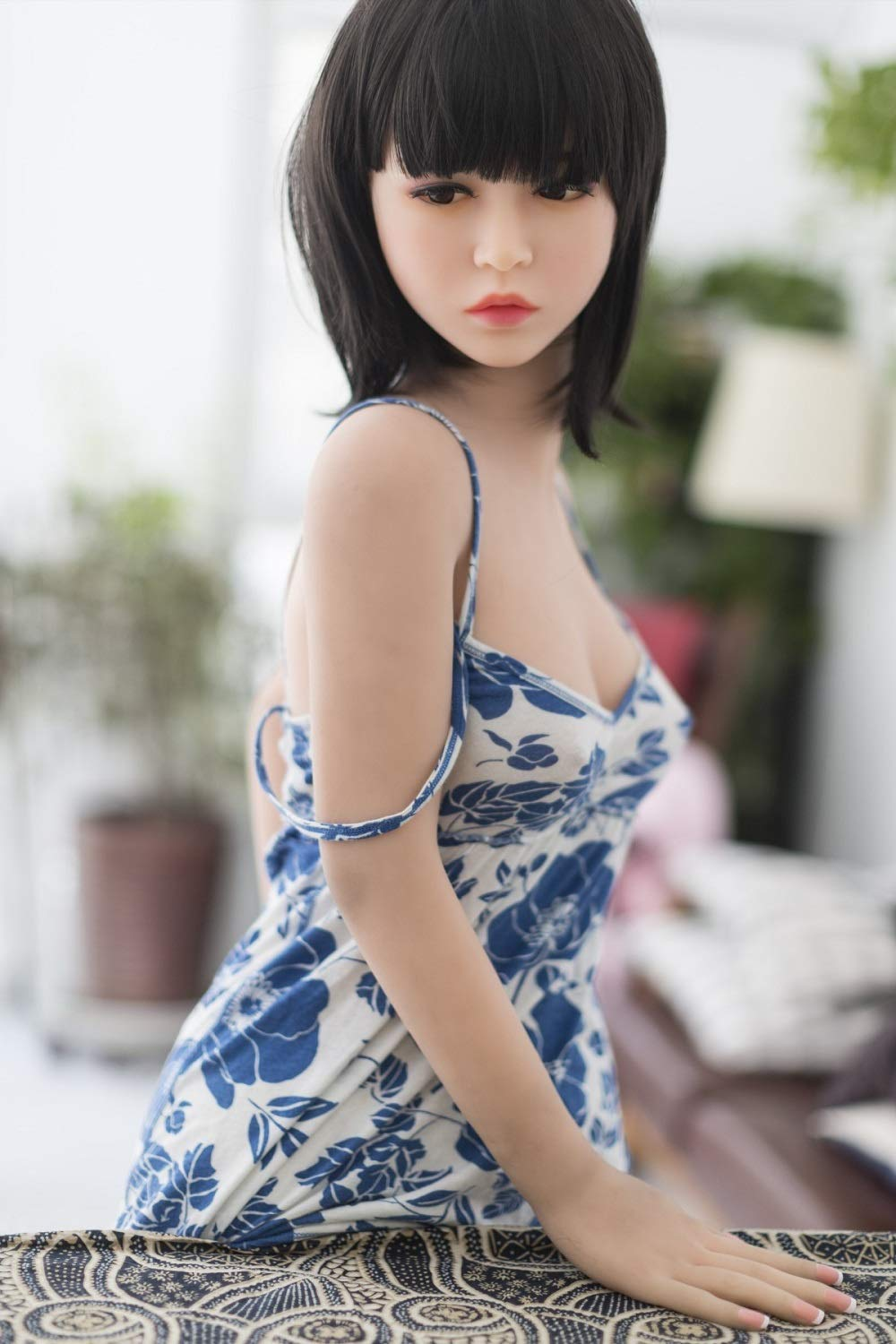 KingMansion 155 cm C-Cup Breast TPE Sex Love Doll Lifelike Sexy Real Love Toy - Daisy, Natural, 5ft