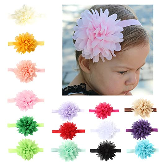 46b38d854fbc DoMii Baby Girl Bows and Headbands Newborn Flower Headbands for Photography  Infant Nylon Headband chiffon15