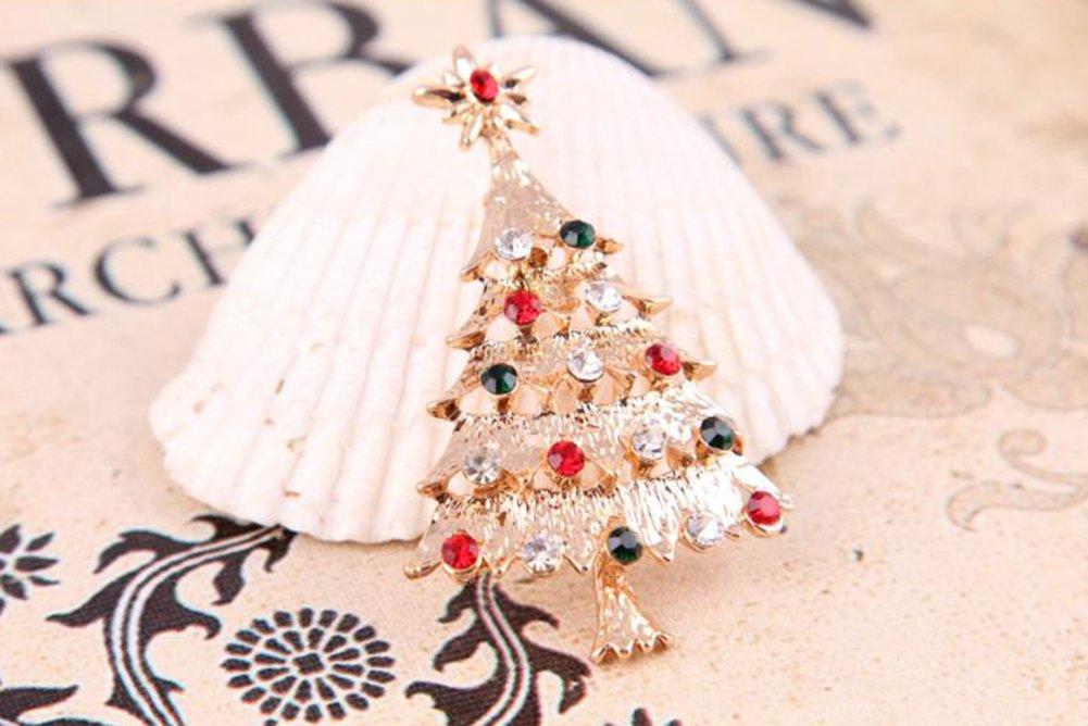 Hosaire Christmas Brooch Christmas Tree Design Costume Jewellery ...