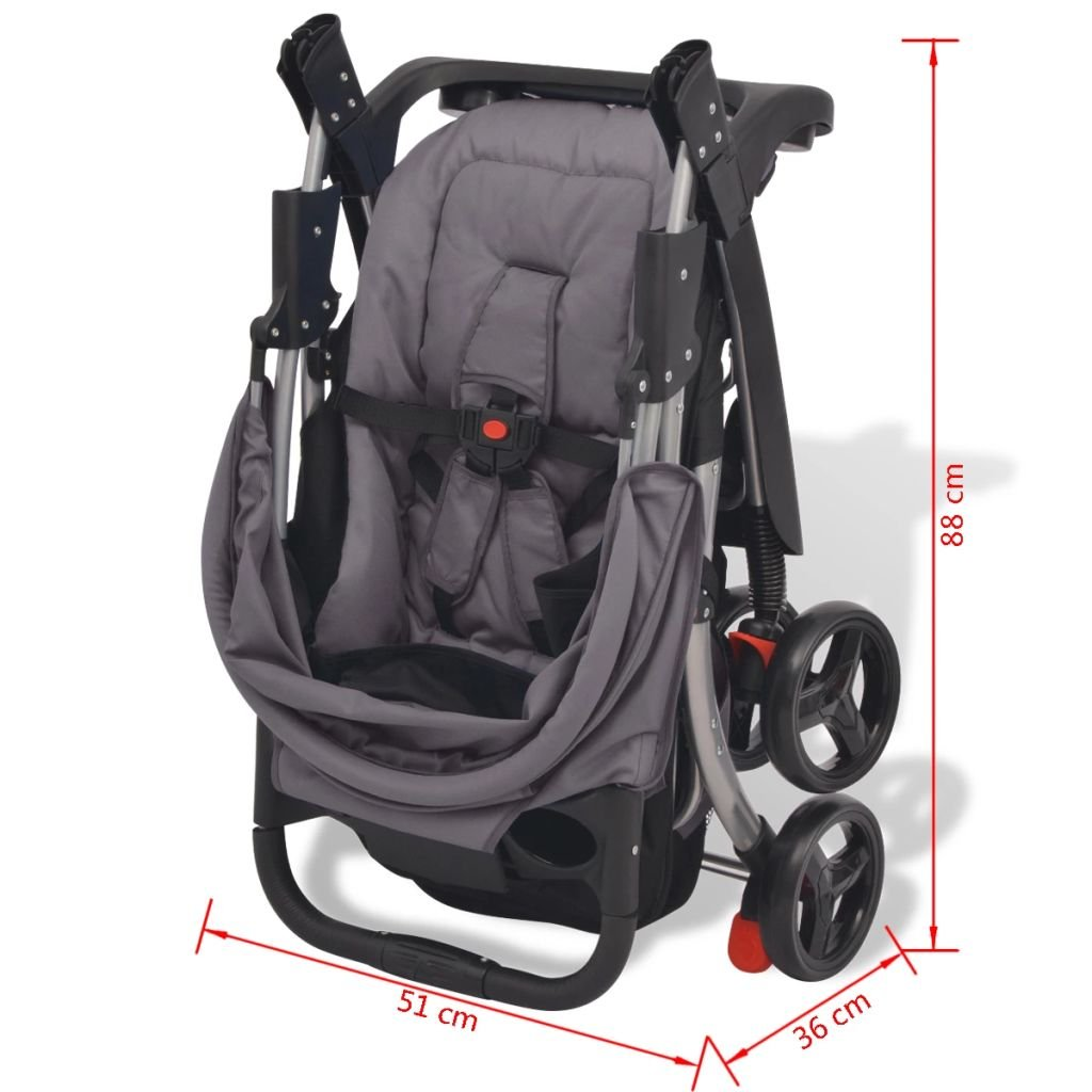 Fesjoy Infant Baby Stroller for Newborn and Toddler Car seat and Rain cover Includes Carrycot Baby carriage Lightweight Travel System