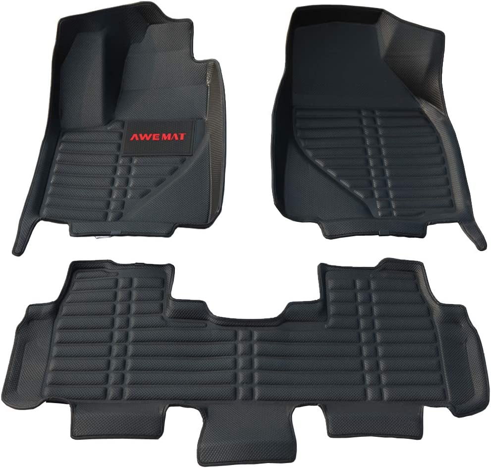 Black Autotech Zone Custom Fit Heavy Duty Custom Fit Car Floor Mat for 2018-2019 Audi A5 Coupe All Weather Protector 4 Pieces Set