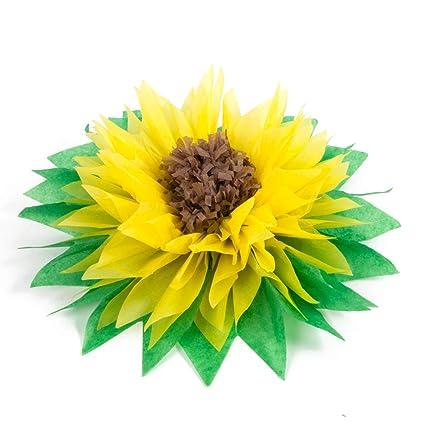 Amazon 3pcs 12 Yellow Tissue Paper Sunflowers Paper Pom Poms