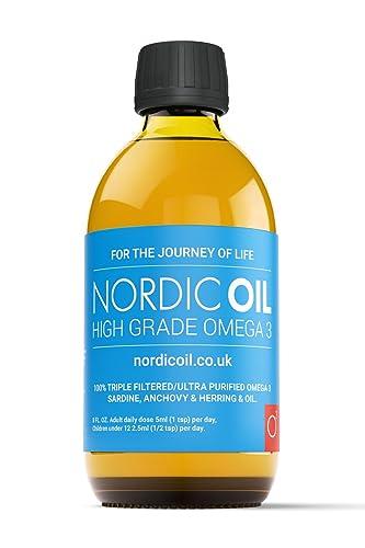 Nordic Oil High Strength Omega 3 Fish Oil, 250ml