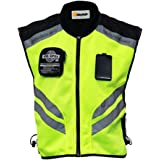"Riding Tribe JK22 Men's Motorcycle Racing Sleeveless Jacket Safety Reflective Vest (XL-1/2 Chest:17.72"", Green)"