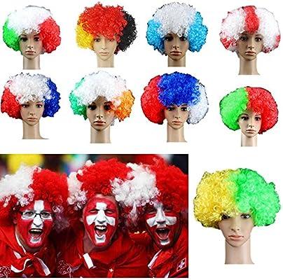 Fútbol Fans Peluca Bandera Nacional Copa Mundial Rusia 2018 Disfraz de Vestido Disfraz para Mujer España: Amazon.es: Bricolaje y herramientas