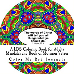 A LDS Coloring Book for Adults- Mandalas and Book of Mormon Verses ...