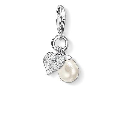 Thomas Sabo Thomas Sabo Charm pendant wing with pearl white 0779-082-14 84ApSPbu