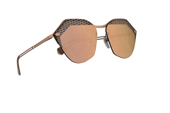 a93faed8a8f57 Amazon.com  Bvlgari BV6109 Sunglasses Matte Pink Gold w Grey Mirror ...