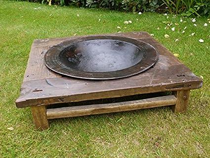 Vintage chino antiguo chino Fire Pit cuenco de hierro estufa barbacoa