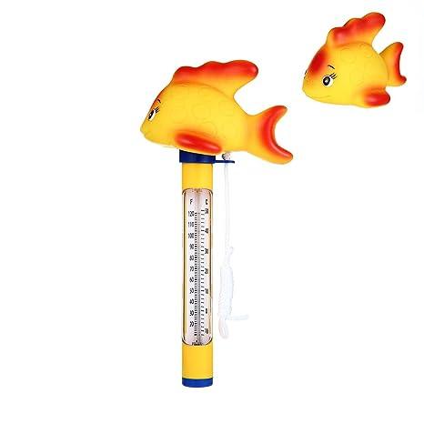 AOLVO Termómetro de Piscina, termómetro de Acuario de 6,3 cm, termómetro de