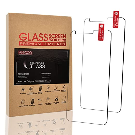 Amazon.com: [2 PACK]LG G6 Screen Protector Tempered Glass,AMICOO Flipcase [Bubble Free] [9H Hardness] [HD Clear] [Anti-Fingerprint] [Scratch-Resistant] ...