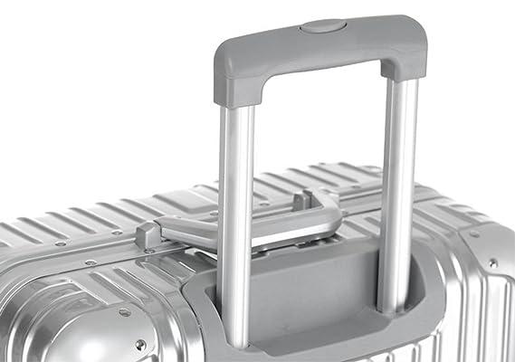 Maleta con ruedas para carrito de envolver ángulo borde de aleación de caja de envío de embarque ntravelmate equipaje ABS + PC de viaje equipaje ligero ...