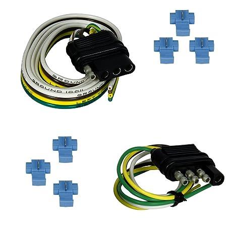 Fabulous Amazon Com Trailer Light Wiring 4 Way Flat 48 Vehicle End Socket Wiring Digital Resources Remcakbiperorg