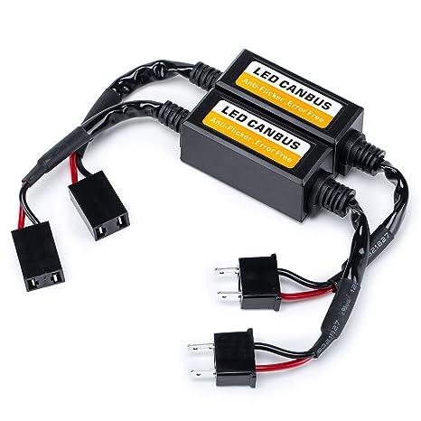 FMS H7 LED Decodificador Enchufar y Usar Advertencia Canceller condensador error Load Resistor LED Canbus decodificador