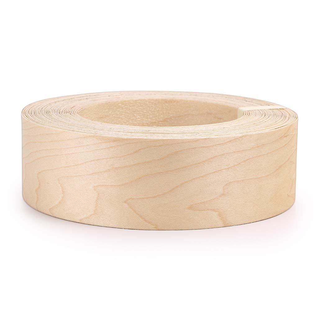 Skelang Maple 2'' X 50' Roll Wood Veneer Edge Banding Preglued Iron-On with Hot Melt Adhesive Edgebanding Flexible Wood Tape by Skelang