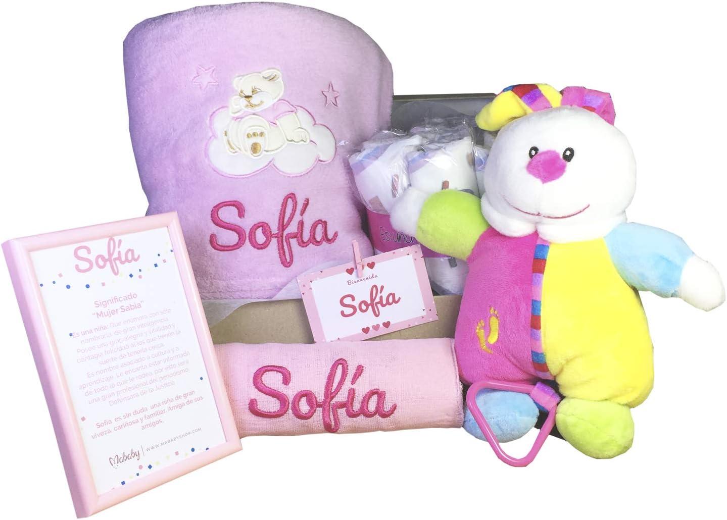 MabyBox My Musical Toy | Canastilla bebé | Cesta de Regalo Recién Nacido Personalizada | Set regalo Recién Nacido (Rosa)