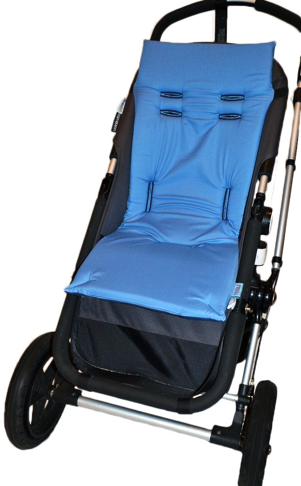 Tivoli Couture Nu Comfort Memory Foam Stroller Pad and Seat Liner, Denim by Tivoli Couture (Image #1)
