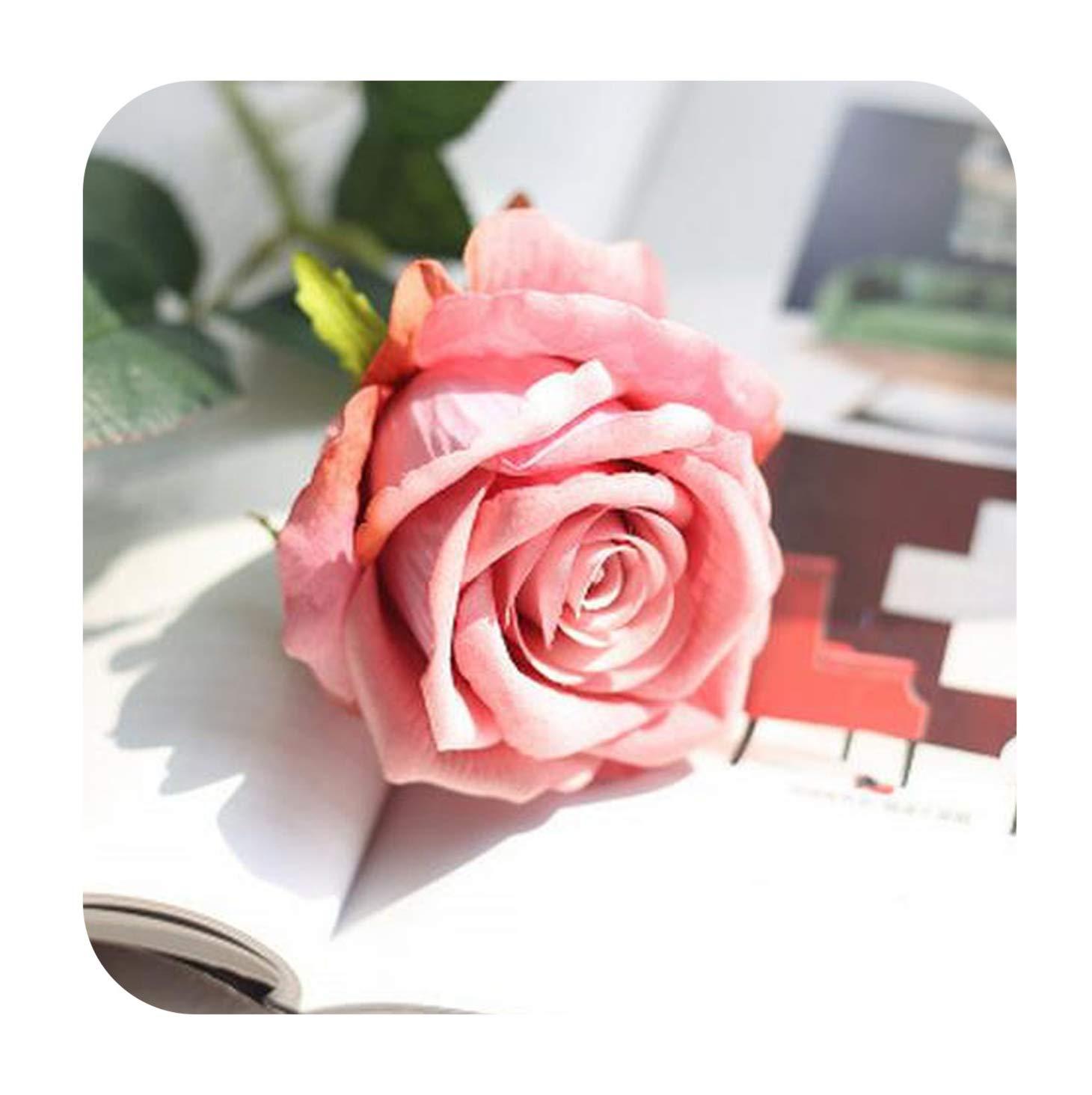 造花 10個/ロット ウェディングデコレーション ローズ造花 ロマンチックな日付/パーティー用ローズシルクフラワーブーケ B07Q3KKWWT 8