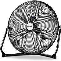 COSTWAY High Velocity Fan 20-Inch 3-Speed Metal Commercial Industrial Grade 360° Floor Fan, Black (20)
