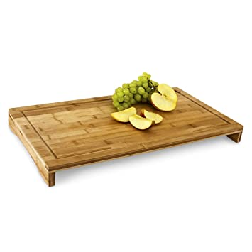 relaxdays schneidebrett bambus hxbxt: ca. 4,5 x 52 x 29 cm großes ... - Schneidunterlage Küche