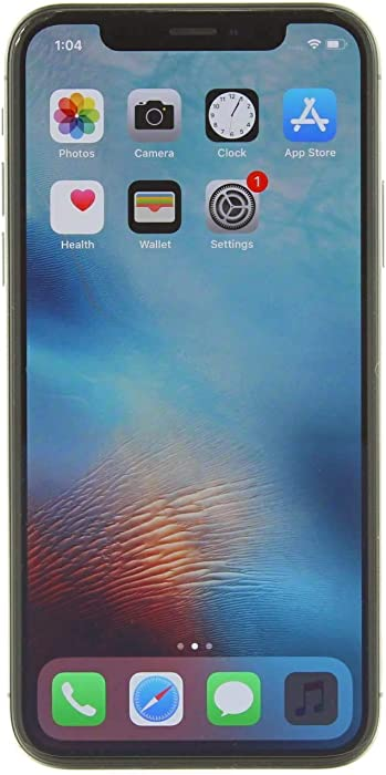 Apple iPhone X, 256GB, Space Gray - Fully Unlocked (Renewed)