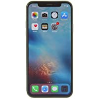 Apple iPhone X, 256GB, Space Gray - Fully Unlocked (Renewed)