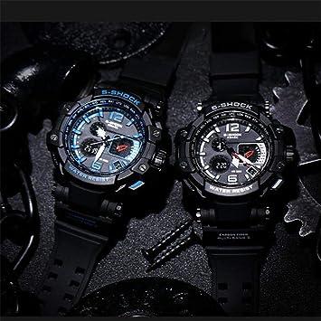 94b7d0195 SMAEL Hombre Militar Reloj Deportivo Analógico Digital impermeable al aire  libre electrónico retroiluminación LED Alarma resistente a los golpes, ...