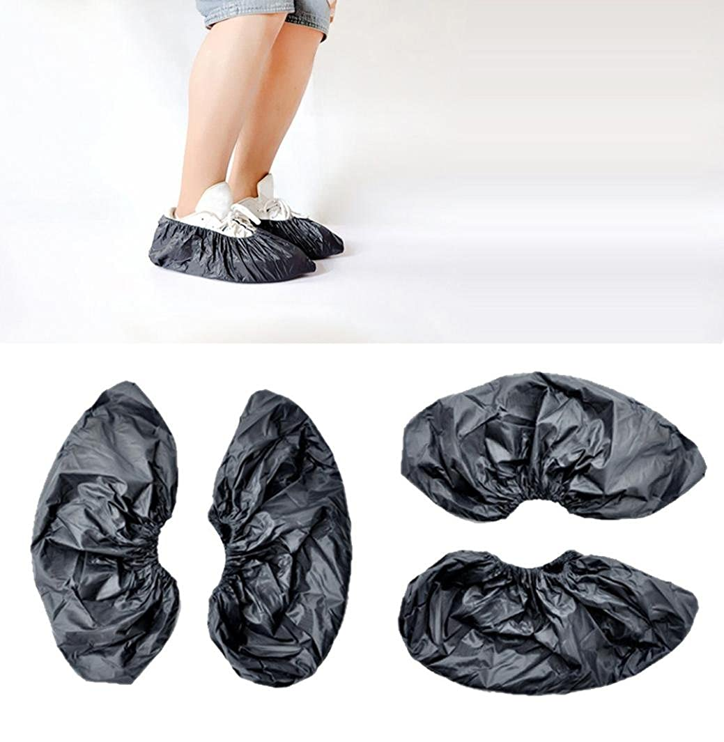 Creazy Reusable Unisex Rain Overshoes Waterproof Anti-Slip Shoe Covers Boot
