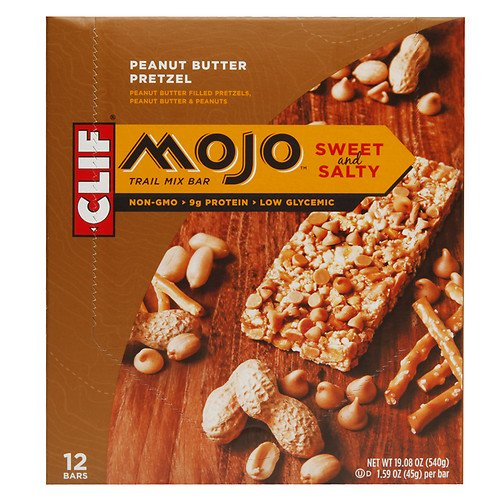 Mojo Bar Sweet & Salty Trail Mix Bars, Peanut Butter Pretzel, 12 pk 1.59 oz