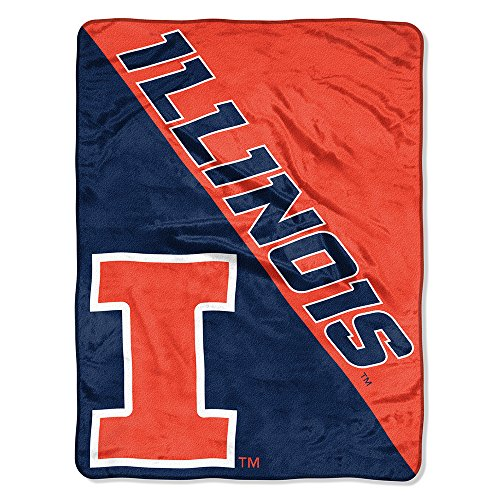 (Amirshay, Inc. Illinois Fighting Illini NCAA Micro Raschel Blanket (Two Tone Series) (48x60) (2-Pack))