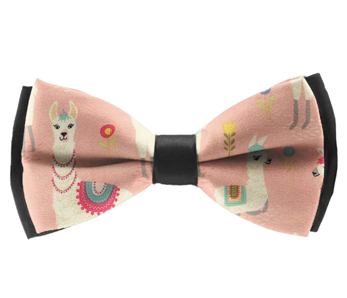INWANZI Adjustable Length Pre-Tied Bow Tie for Men /& Boys Elegant Pink Llama Bowtie