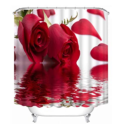 """photo curtain to go 3d photo printing Photo Curtain /""""Red Roses/"""" Curtain with Motif"""