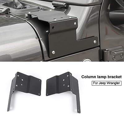 Car A-Pillar Light Bracket Mount Holder for LED Light Bar Work Lights for Jeep Wrangler JL JLU 2020 2020: Automotive