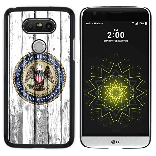 FJCases Mississippi Seal The Magnolia State Wood Pattern Slim & Thin Hard Case Cover for LG G5 - Mississippi Credit Card