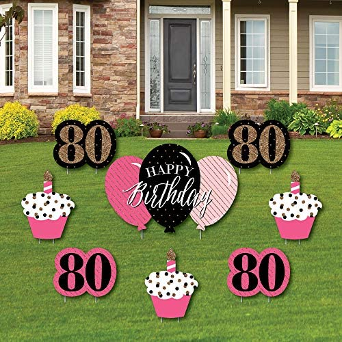 Chic 80th Birthday Outdoor Decorations