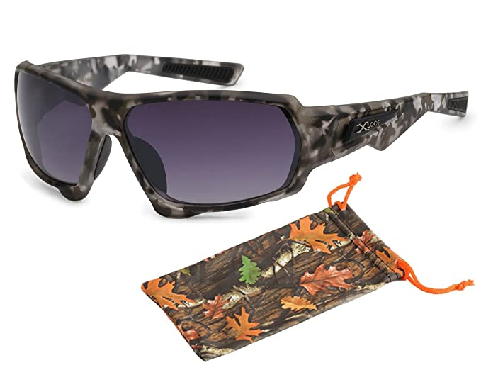 bdbc3db03a3a4 ( 8X2443 Gray) Sport Wrap Camouflage Camo Sunglasses Mens Outdoor Hunting  Duck Black Brown