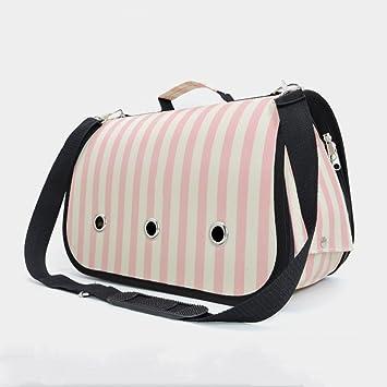 Bolsa Para Mascotas Mochila Para Perros Mochila Para Gatos Mochilas Para Perros Mochila Transpirable Bolsa De Viaje,Pink-37*17*23cm: Amazon.es: Hogar