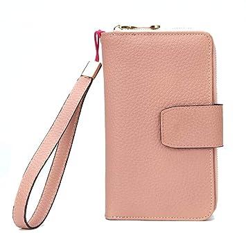 LXYIUN Billetera De Mujer,Larga Sección Regalo Monedero Posición Multi-Tarjeta Embrague,Pink: Amazon.es: Hogar