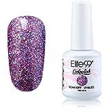 Elite99 Gelpolish Soak Off UV LED Gel Nail Polish Lacquer 15ml Glitter Light Pink (1864)