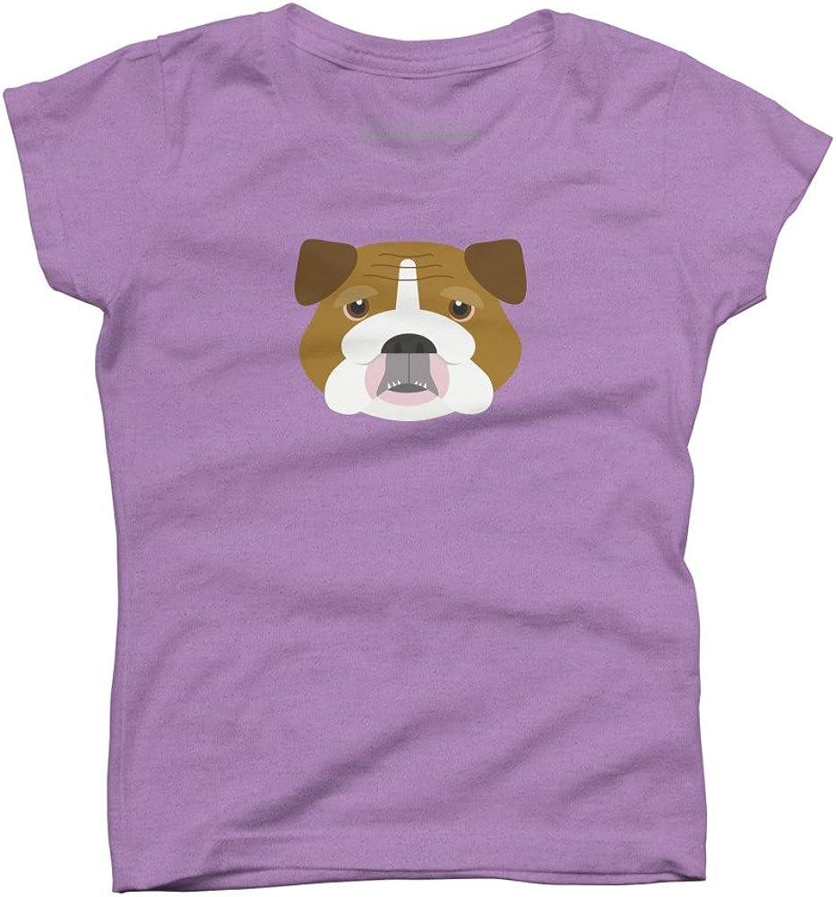 Design By Humans English Bulldog Girls Youth Graphic T Shirt