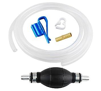 Wadoy Gas sifón manguera de gasolina/sifón bomba de mano de transferencia de combustible/líquido/agua (9 pies): Amazon.es: Coche y moto