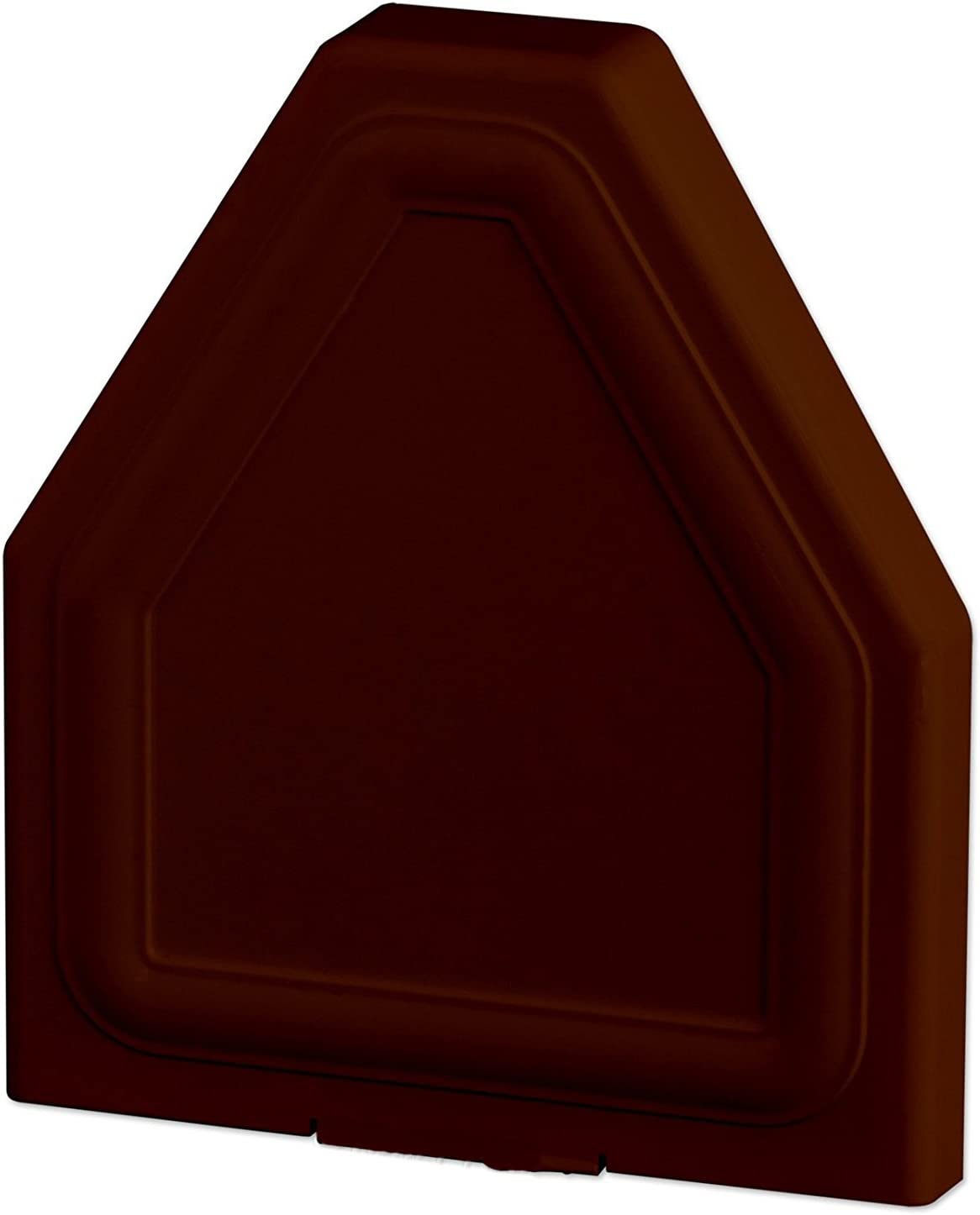 Chocolate Brown Eurocell CRS-8201 Glazing Bar End Cap Conservatory Roof Spar Rafter End Trim