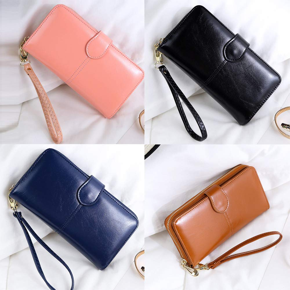 Amazon.com: DHmart Luxury Fashion Women Wallets Nubuck Leather Zipper Wallet Womens Long Design Purse Two Fold Credit Cards Holder Pocket: Kitchen & Dining