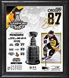 """Sidney Crosby Pittsburgh Penguins 2017 Stanley Cup Champions Framed 15"""" x 17"""" Collage with Piece of Game-Used Puck - Limited Edition of 217 - Fanatics Authentic Certified"""
