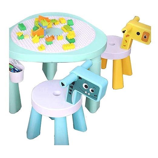 WYKDL Toys 3 en 1 Actividad mesa de manualidades y Construcción ...
