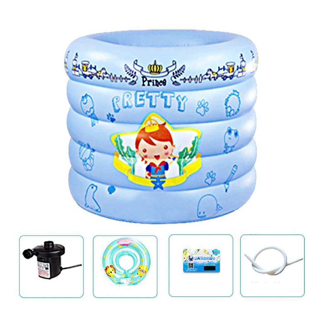 ホーム小さなパドリングプール、pvcインフレータブルプール、5リング高さ暖かいバブル底ポンプでラウンド赤ちゃん子供漫画オーシャンボールプール (色 : B, サイズ さいず : 100*75CM) 100*75CM B B07RC29GWG